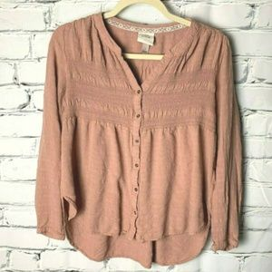 😊 Knox Rose Top Size Small Mauve Pink Blouse